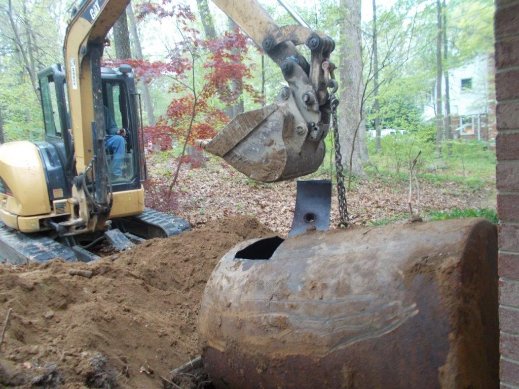 heating oil tank removal