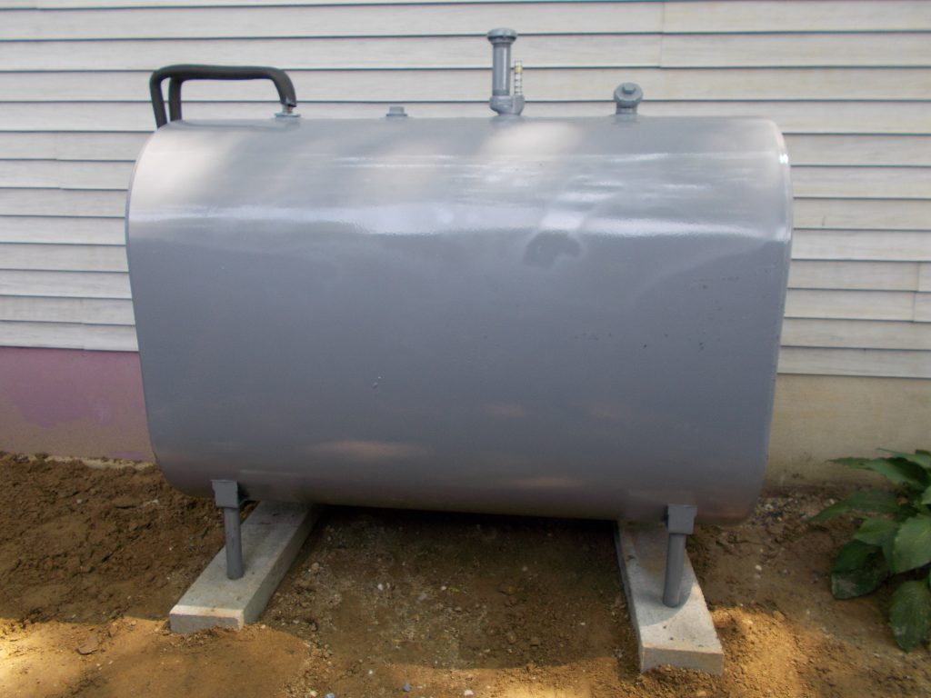 heating oil tank sizes